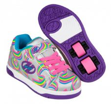 Heelys X2 Dual Up Silver-Purple-Rainbow